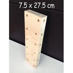 XenModul étagère bois massif 7.5 cm x 27.5 cm