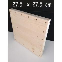 XenModul étagère bois massif 27.5 cm x 27.5 cm