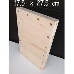 XenModul étagère bois massif 17.5 cm x 27.5 cm