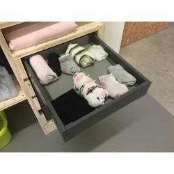 Tiroir métallique gris anthracite