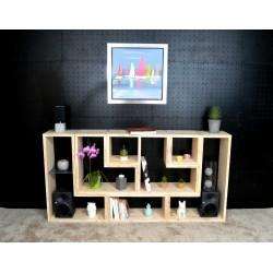 BORDEAUX / meuble bois massif ép 2,5 cm/ déco / naturel / étagère /bibliothèque, meuble à monter soi-même