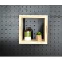 XenInos O en Epicéa Brut/étagère/facile à monter soi-même 30x30 cm prof 27.5 cm