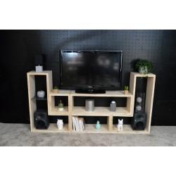 CHARTRES / meuble bois massif ép 2,5 cm / déco / naturel / étagère /bibliothèque