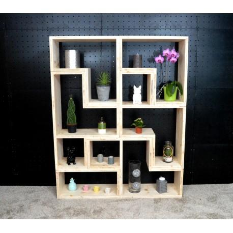 LAVAL / meuble bois massif / déco / naturel / étagère /bibliothèque, meuble à monter soi-même