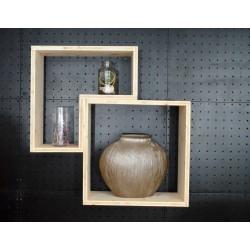LES SABLES D'OLONNE / meuble bois massif ép 2,5 cm / déco / naturel / étagère /bibliothèque, meuble à monter soi-même