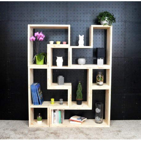 LYON / meuble bois massif / déco / naturel / étagère /bibliothèque, meuble à monter soi-même