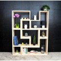 LYON / meuble bois massif ép 2,5 cm / déco / naturel / étagère /bibliothèque, meuble à monter soi-même