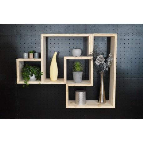 MONTAIGU / meuble bois massif / déco / naturel / étagère /bibliothèque, meuble à monter soi-même