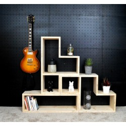 ORLEANS / meuble bois massif ép 2,5 cm/ déco / naturel / étagère /bibliothèque, meuble à monter soi-même
