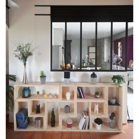PARIS / meuble bois massif / déco / naturel / étagère /bibliothèque, meuble à monter soi-même
