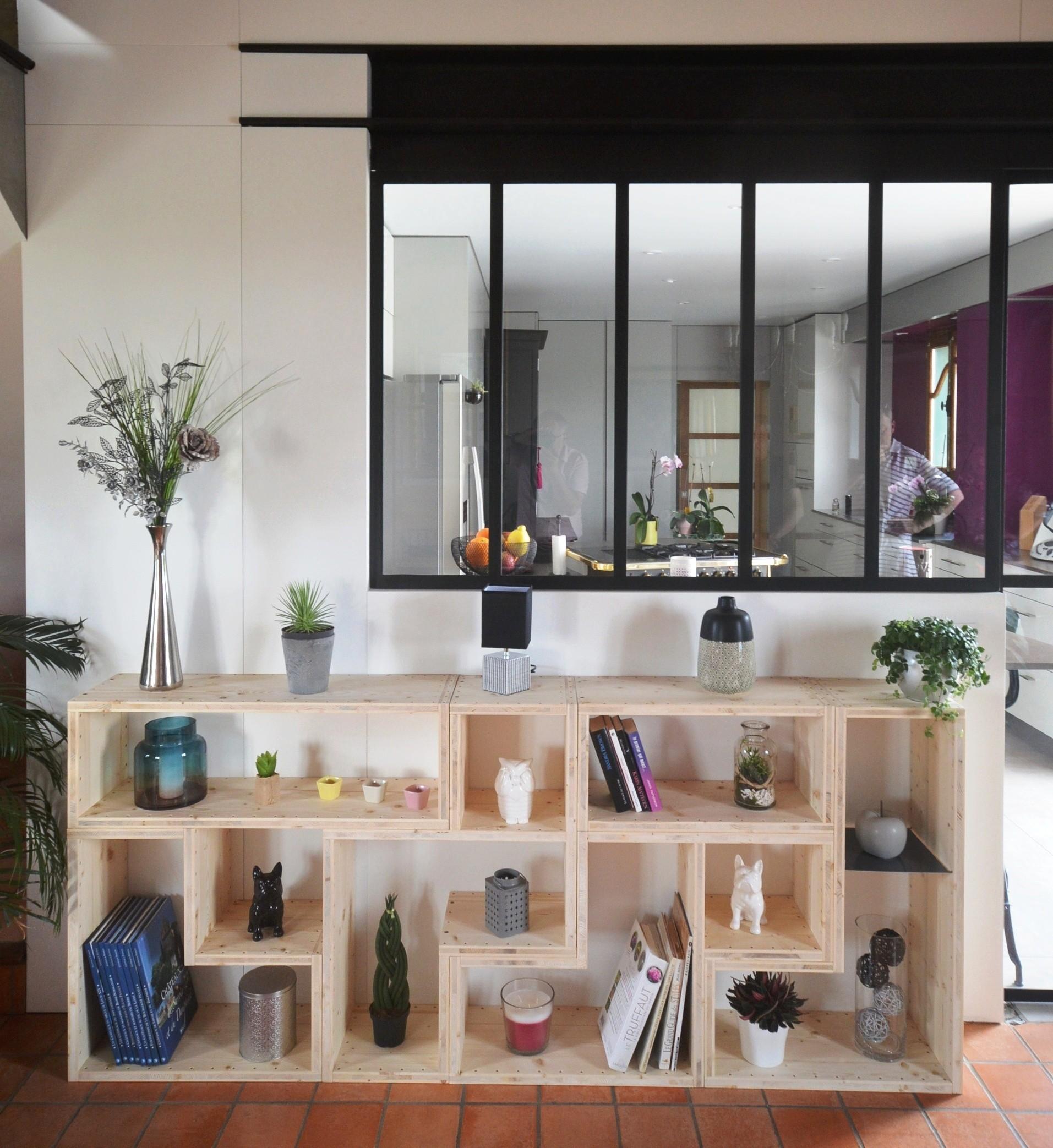 bibliothèque étagère massif salon bois Paris CxoBder