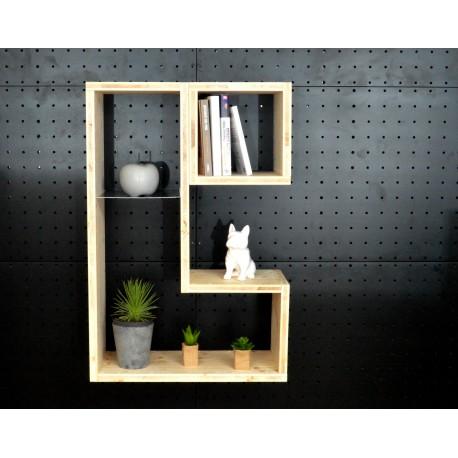 QUIMPER / meuble bois massif / déco / naturel / étagère /bibliothèque, meuble à monter soi-même