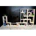 RENNES / meuble bois massif ép 2,5 cm / déco / naturel / étagère /bibliothèque, meuble à monter soi-même