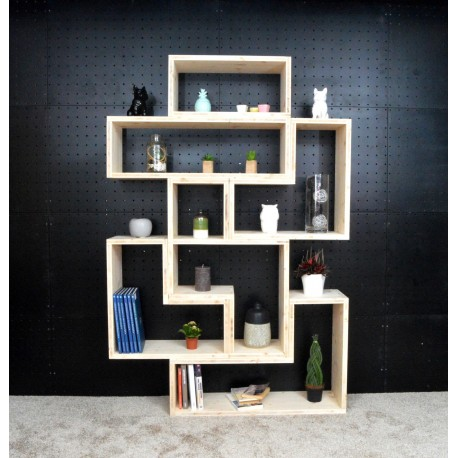 VANNES / meuble bois massif / déco / naturel / étagère /bibliothèque, meuble à monter soi-même