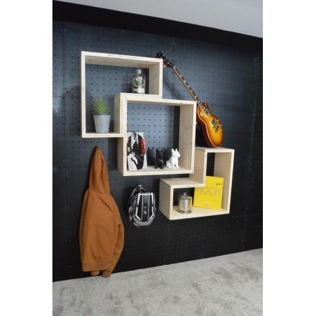 CHAMBRETAUD / meuble bois massif / déco / naturel / étagère /bibliothèque, meuble à monter soi-même