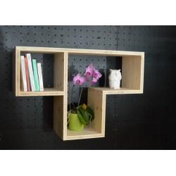 XenInos T / meuble bois massif / déco / naturel / étagère /bibliothèque, meuble à monter soi-même